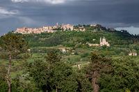MONTEPULCIANO, TUSCANY, ITALY - MAY 19 : Countryside near Montepulciano in Tuscany on May 19, 2013