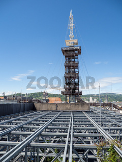 """View to the """"No Sorrows Tower"""" - """"Keine Sorgen Turm"""" – The Peak of the High Altitude Hiking Trip – """"Höhenrausch"""" – above the Rooftops of Linz"""