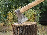 Ax in the tree stump