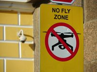 no fly zone sign