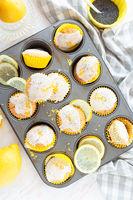 Leckere Zitronen Mohn Cupcakes