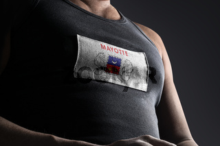 The national flag of Mayotte on the athlete's chest