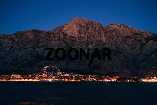 Panoramic view of old town Kotor, Montenegro