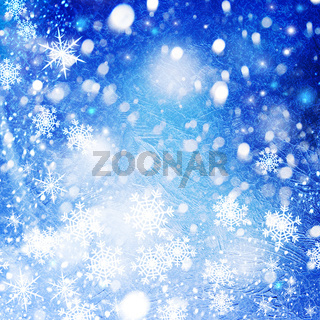 Abstract christmas backgrounds with cool bokeh and ice texture