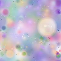Colourful magic light, abstract bokeh in soft pastel rainbow colours, seamless pattern