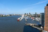 Hamburg, Overseas bridge, Norderelbe, Harbor, Germany
