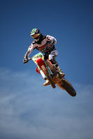 motocross dirtbike in the air