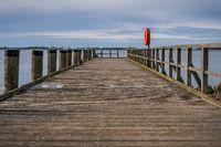 The pier in Ludwigsburg, Mecklenburg-Western Pomerania, Germany