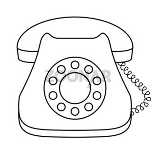 Phone dial desktop, contour