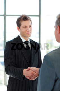 Two Business Man shaking hands