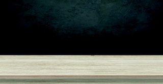 Large table top made of solid light wood, dark background - Vector