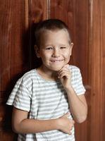 Indoor portrait of a cute boy