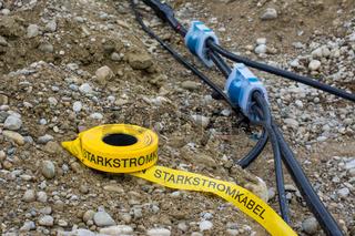 Baustelle - Starkstromkabel