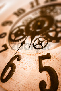 Old clock dial background