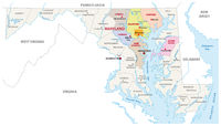Baltimore metropolitan area vector map, Maryland, USA