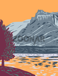 Upper Missouri River Breaks National Monument in Western United States Protecting the Missouri Breaks of North Central Montana WPA Poster Art