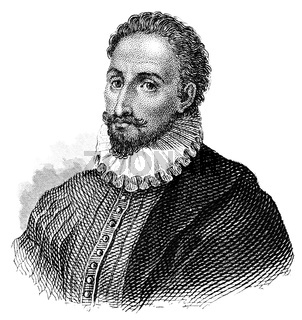 Miguel de Cervantes Saavedra, 1547-1616, a Spanish writer
