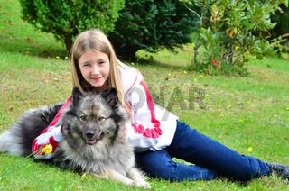 Hund Kind Freunschaft Mädchen