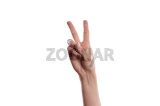 Victory Handzeichen