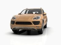 Generic and Brandless Luxury SUV Isolated on White 3d Illustration