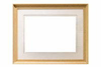 modern wooden picture frame isolated