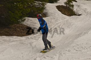 Dreizehnjähriger Snowboarder, Söllereck, Oberstdorf, Allgäuer Alpen, Oberallgäu, Bayern, Deutschland, Europa