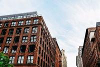 Old Industrial Buildings with Brick Facades in Brooklyn,