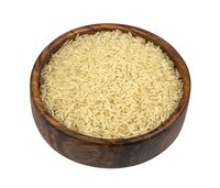 Parboiled rice isolated on white background