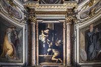 Madonna di Loreto by the Italian Baroque master Caravaggio in the Church of S. Agostino