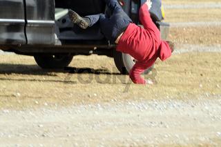 a stuntman performing a stunt