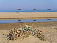 The beach of Piscinas