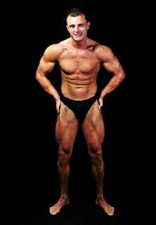 Bodybuilder strong as a rock