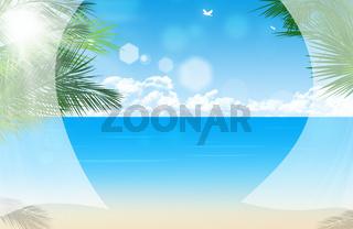 Window View at Tropical Beach