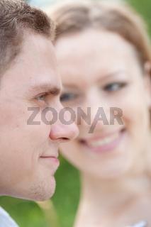 happy couple, close-up