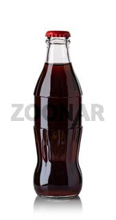 Brown soda water bottle