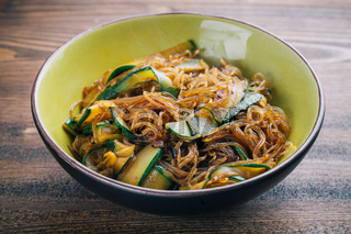 Noodle with Mixed Vegetables. High quality photo.