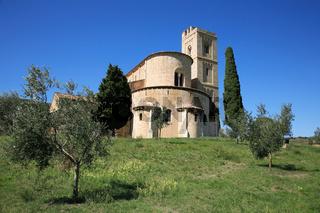 Klosterkirche Sant' Antimo in Toskana, Italien