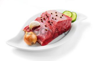 Close up raw ground beef