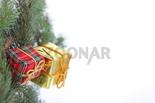 gifts hooked on a Christmas tree