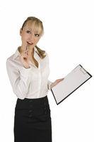 Woman make a checklist.