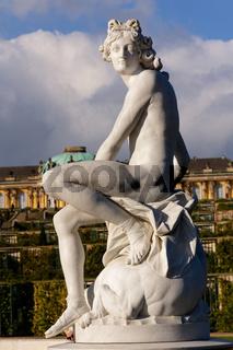 Statue at Sanssouci Palace