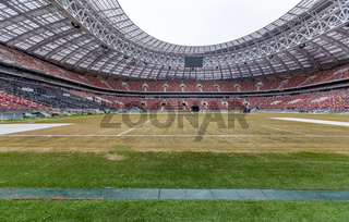 Big sports arena of the Olympic complex Luzhniki in Moscow, Russia