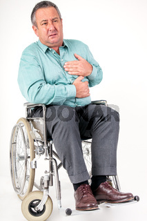 Man in wheelchair has chest pain