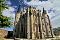 Spain: Bishop´s palace by Gaudí in Astorga