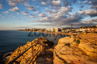 Blanes at Sunrise on Costa Brava in Spain
