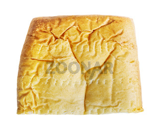 Piece of pasty with meat isolated