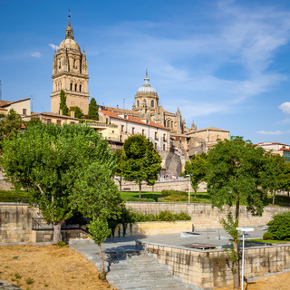 Park and Cathedral in Salamanca