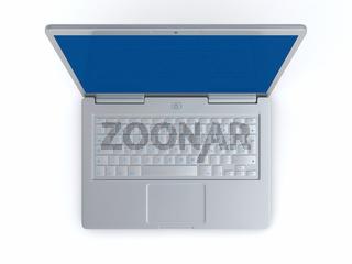 Laptop Silber Blau - Draufsicht 02