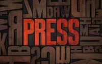 Retro letterpress wood type printing blocks - Press