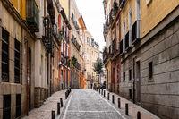 Scenic View of Malasana Neighbourhood in Central Madrid